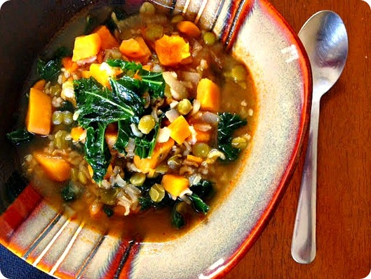 sweet potato and kale soup 3